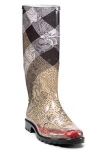 Burberry Check Lace Rain Boots