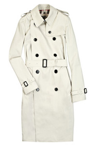 Burberry Cotton Blend Trench