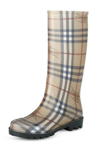 Burberry Haymarket Check Wellington Rain Boots