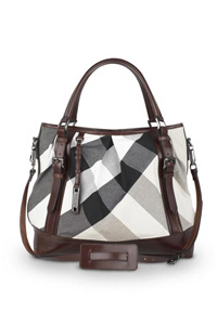 Mega Check Canvas Lowry Bag