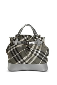 New Check Nylon Tote Bag