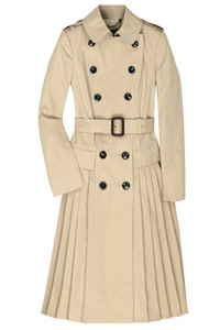 Burberry Prorsum Pleated Skirt Trench