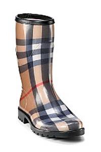Burberry Womens Check Rain Boots
